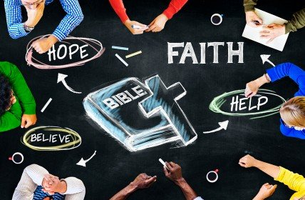 Bible Words Faith and Hope and Believe
