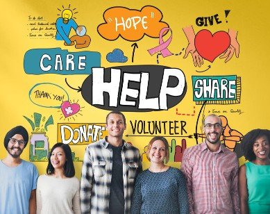 Volunteer help give share