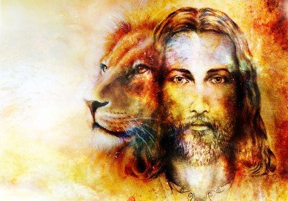 Painting of Jesus as Lion